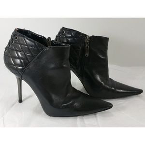 ALDO Black Quilted Ankle Boots